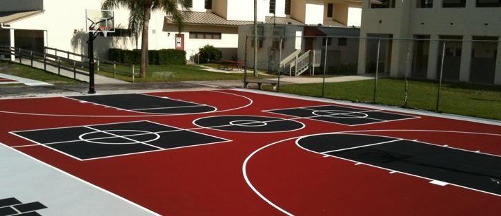 W Palm Beach FL   Tennis Court   Basketball Court Installation   Top Sport Surface Installation